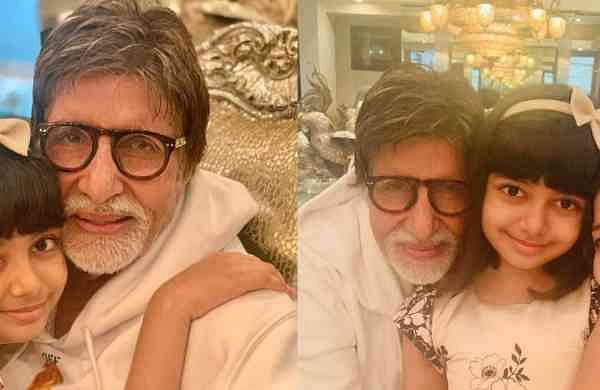 Amitabh Bachchan with Aradhya and Aishwarya Rai Bachchan