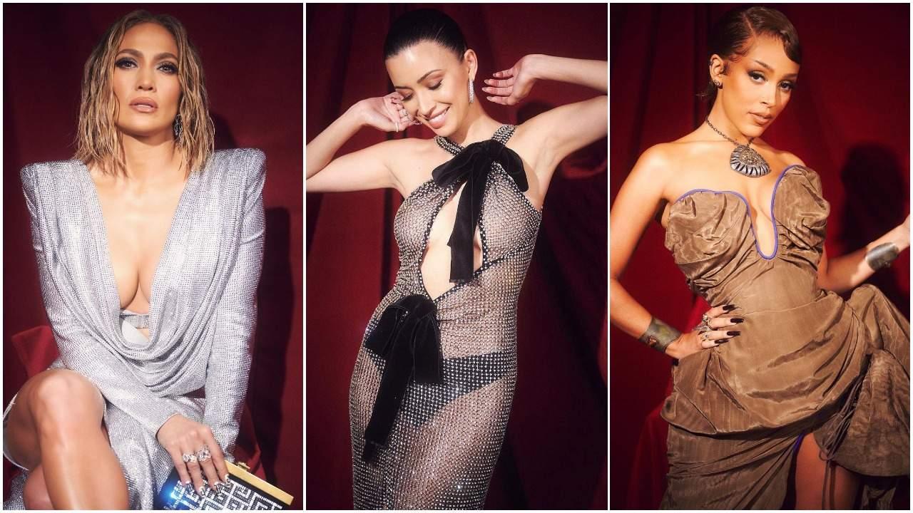 Jennifer Lopez, Christian Serratos and Doja Cat