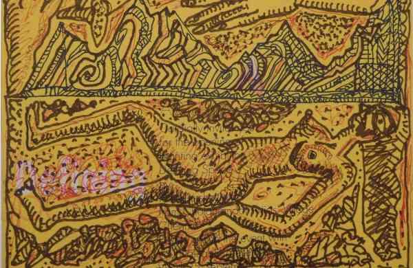 Jogen_Chowdhury,_The_Woman,_Pen_Ink_on_Paper,_5