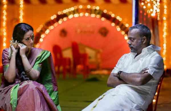 Simran & Gautham Menon in a scene from Paava Kadhaigal