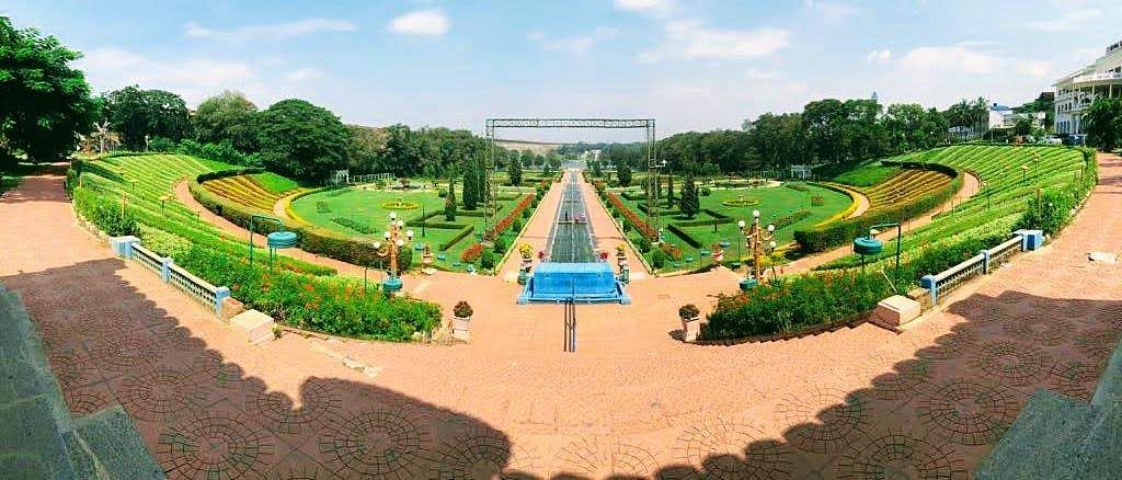 Fish eye view of Brindavan Garden