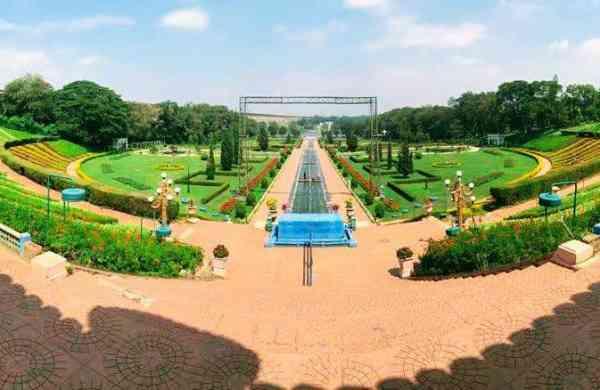 Fish eye view of Brindavan Garden
