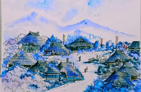 Artist Sujata Dey paintings
