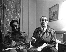Fidel Castro and Malcolm X (Photo: Embassy of Cuba/IANS)