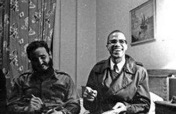 Fidel Castro and Malcolm X (Photo: Embassy of Cuba/IANS)