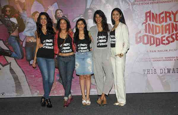 Sarah Jane Dias, Sandhya Mridul, Tannishtha Chatterjee, Anushka Manchanda and Amrit Maghera (Photo: IANS)