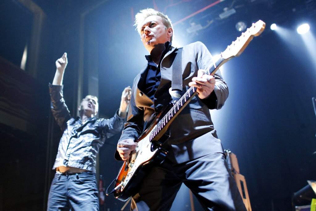 Gang of Four's Andy Gill and Jon King (AP Photo/Jason DeCrow)