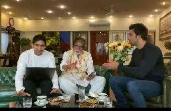 Ayan Mukerji, the Big B, Ranbir Kapoor (Photo: IANS)