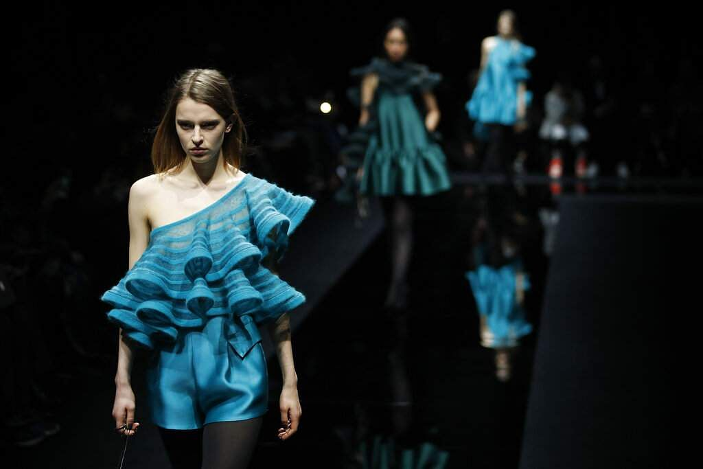 Emporio Armani's Fall/Winter 2020/2021 collection (AP Photo/Antonio Calanni)