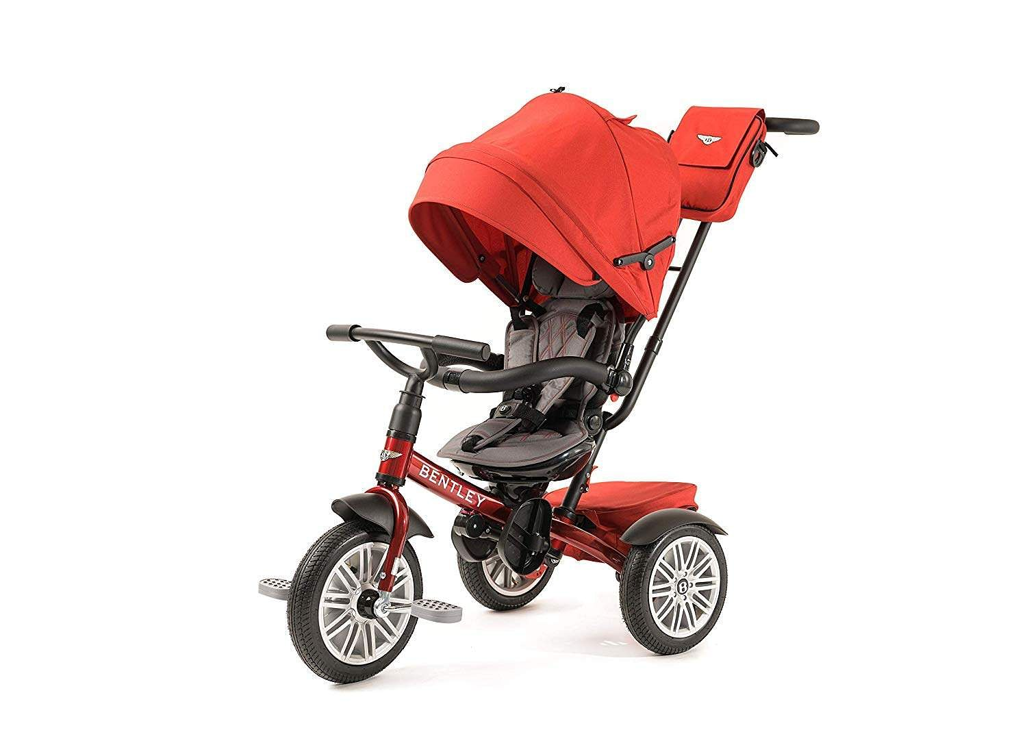 Bentley Stroller Trike: Designed and licensed by Bentley Motors, this Stroller/Trike transforms through phases for infants, toddlers and other age groups in multiple ways. INR 29,000.