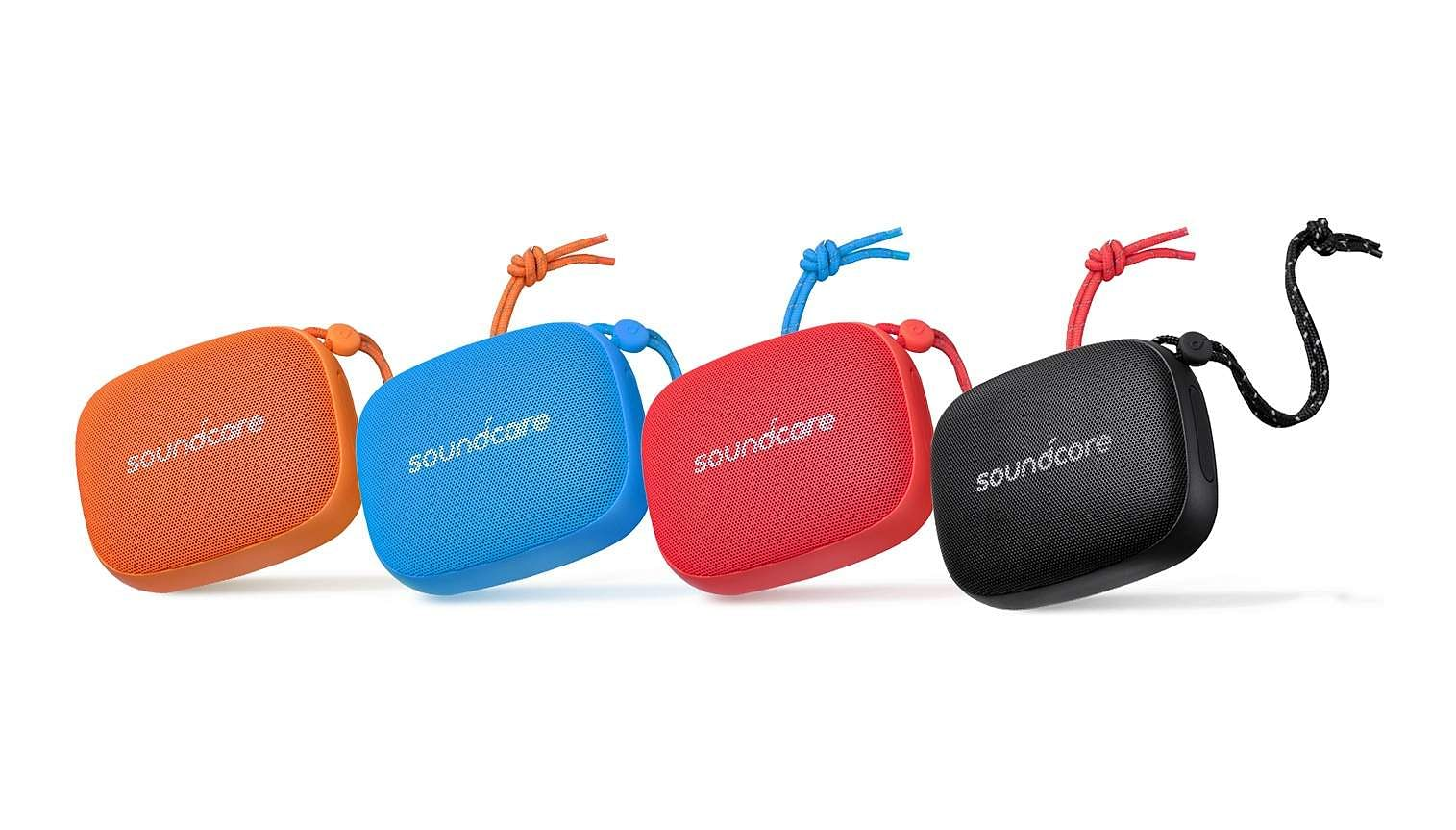 Soundcore Icon Mini: A compact BT speaker in trendy colours, great for outdoor trips. Encased in a tough rubber shell, dust and water-resistant. Quality sound at 3W, 8 hrs non-stop music. INR 1,999.
