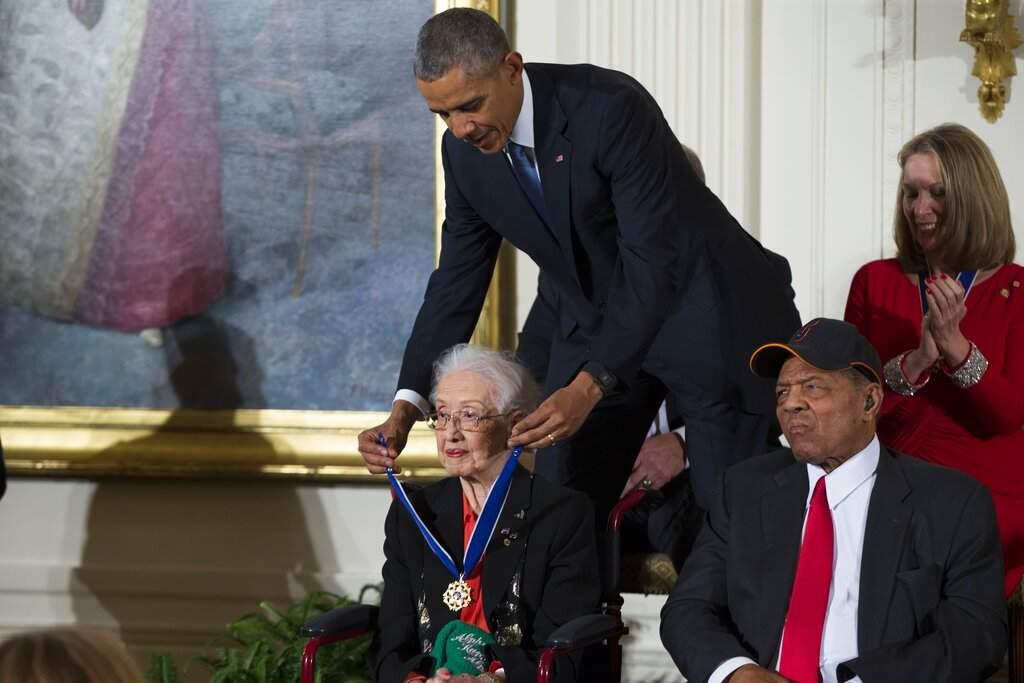 President Obama presents the Presidential Medal of Freedom to Katherine Johnson (AP Photo/Evan Vucci, File)