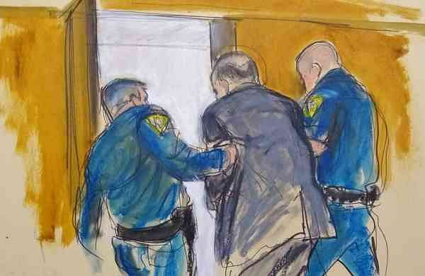 Courtroom sketch: Harvey Weinstein (Elizabeth Williams via AP)