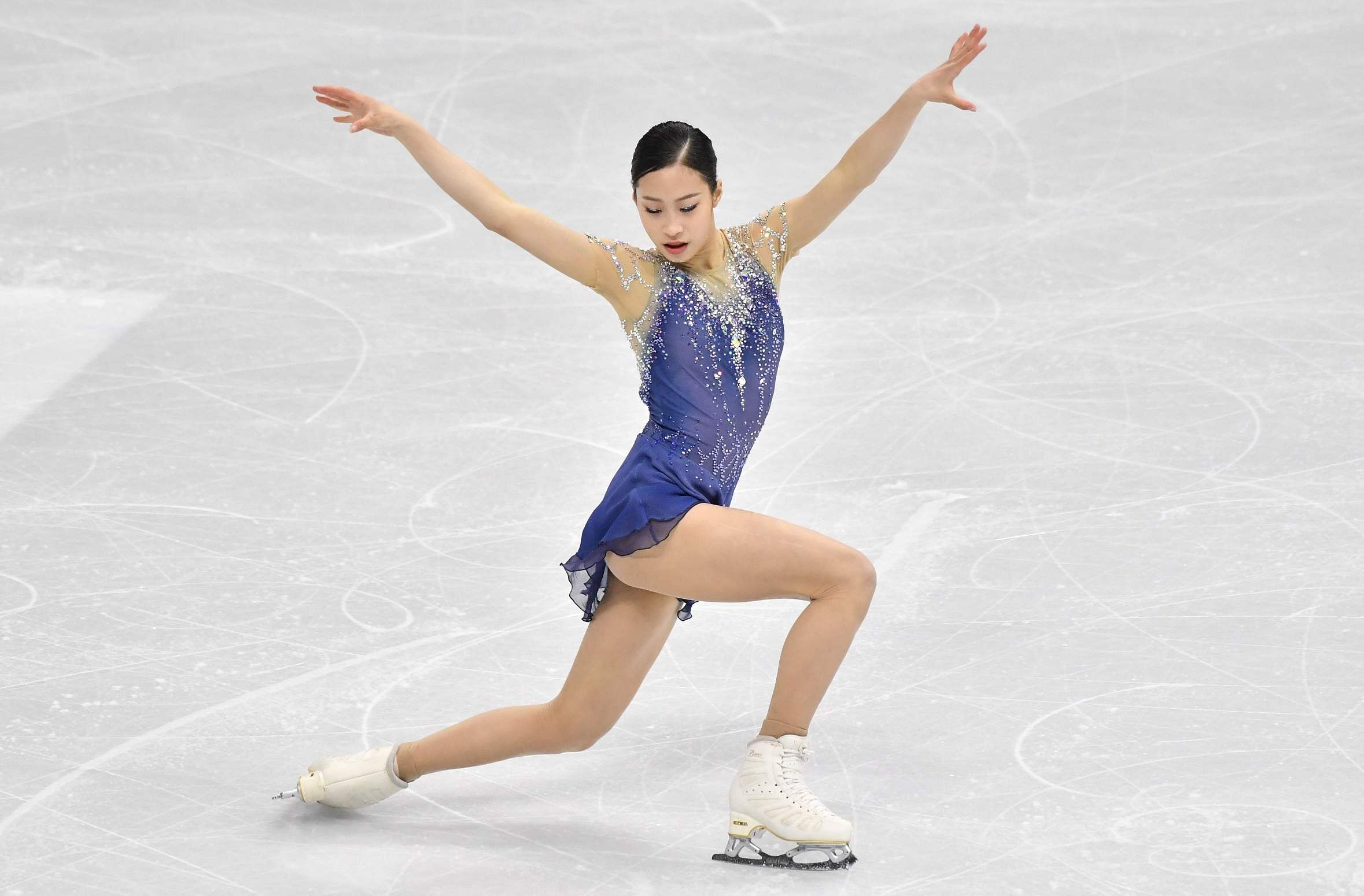 Seoul: You Young of South Korea performs during the ladies free skating at the ISU Four Continents Figure Skating Championships in Seoul on February 8, 2020 / AFP / Jung Yeon-je