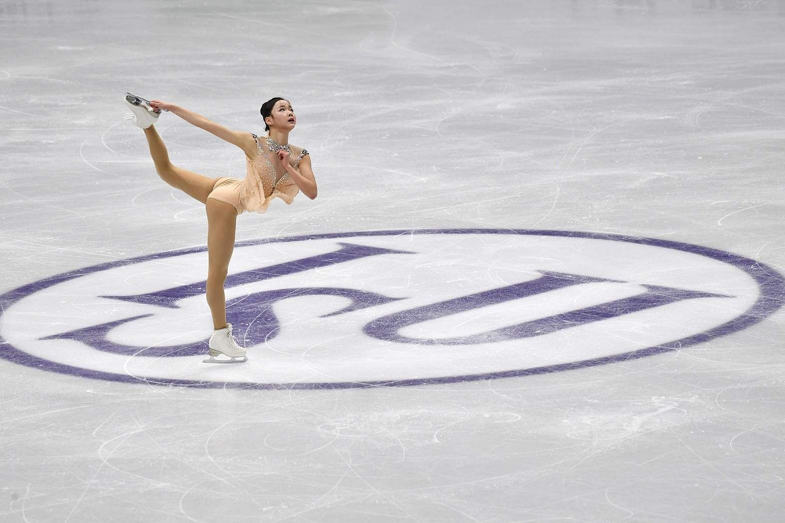 Seoul: Lim Eun-soo of South Korea performs during the ladies free skating at the ISU Four Continents Figure Skating Championships in Seoul on February 8, 2020 / AFP / Jung Yeon-je