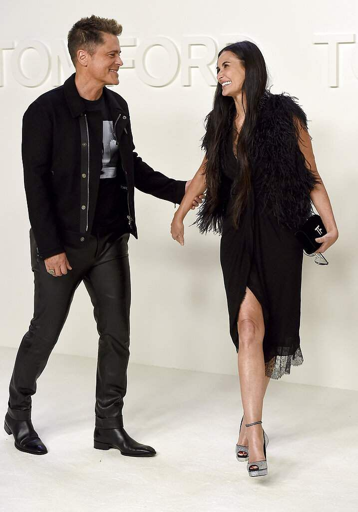 Rob Lowe and Demi Moore attend the Tom Ford show at Milk Studios during NYFW Fall/Winter 2020 on Friday, Feb 7, 2020, in Los Angeles. (Photo by Jordan Strauss/Invision/AP)
