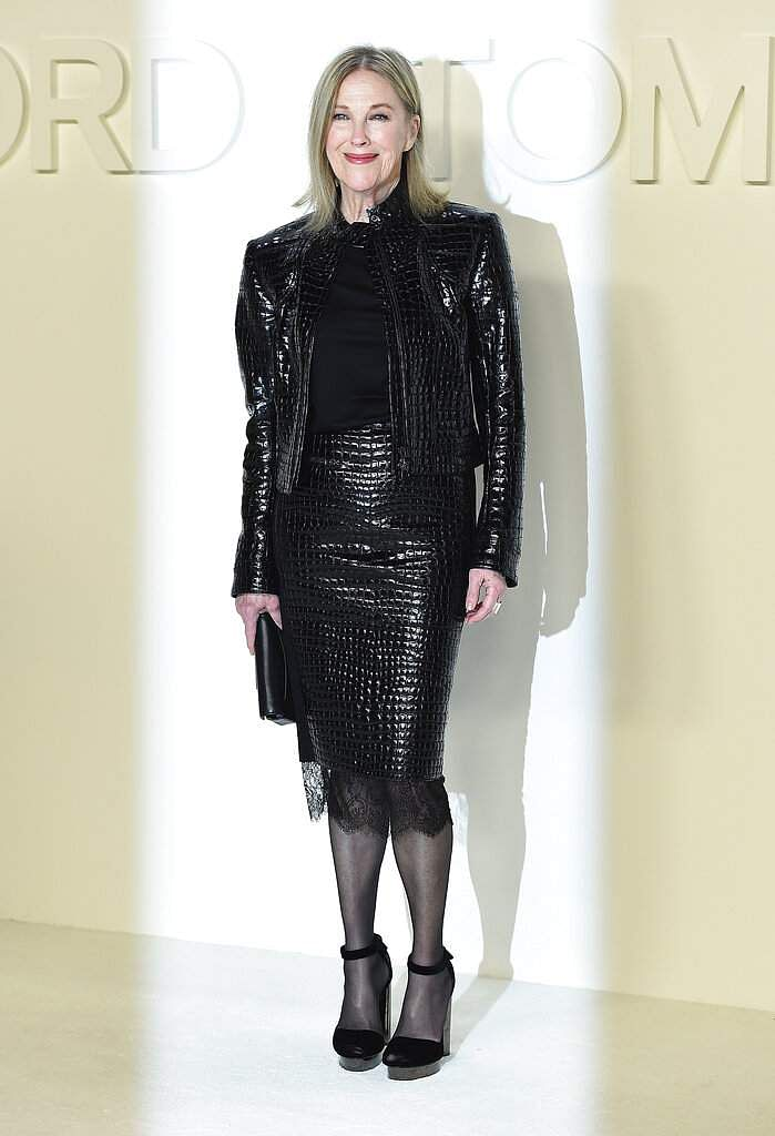 Catherine O'Hara attends the Tom Ford show at Milk Studios during NYFW Fall/Winter 2020 on Friday, Feb 7, 2020, in Los Angeles. (Photo by Jordan Strauss/Invision/AP)