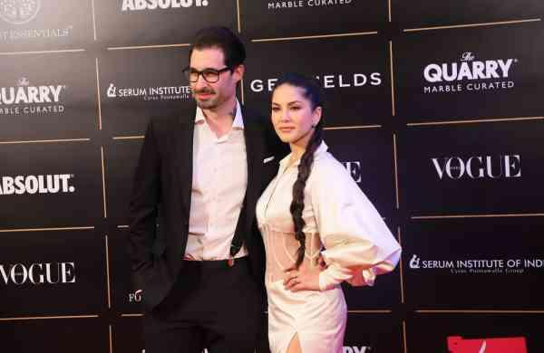 Sunny Leone and Daniel Weber (Photo: IANS)