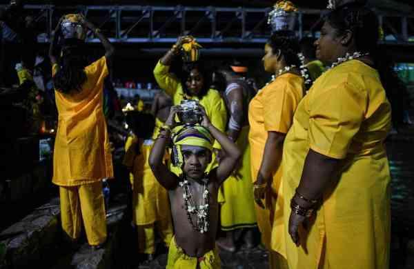 Thaipusam festival in Malaysia (AFP/Mohd RASFAN)