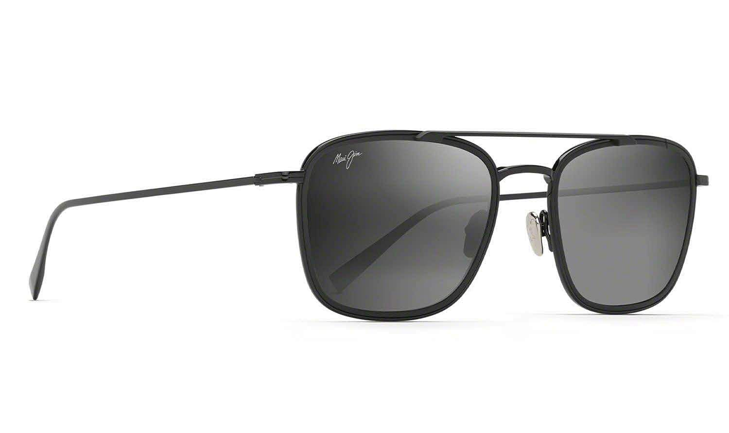 Maui Jim 'Following Seas': This new aviator offers ultimate UV protection. Three colour options; ultra-light, shatter & scratch-resistant MauiBrilliant lens, titanium & nylon frame. INR 29,990.