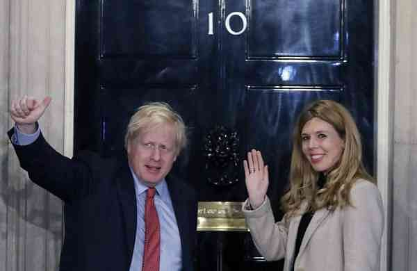 Boris Johnson and Carrie Symonds (AP Photo/Matt Dunham)
