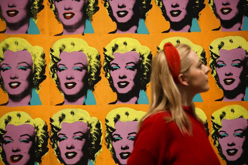 Warhol's 'Marilyn Diptych' (AP Photo/Matt Dunham)