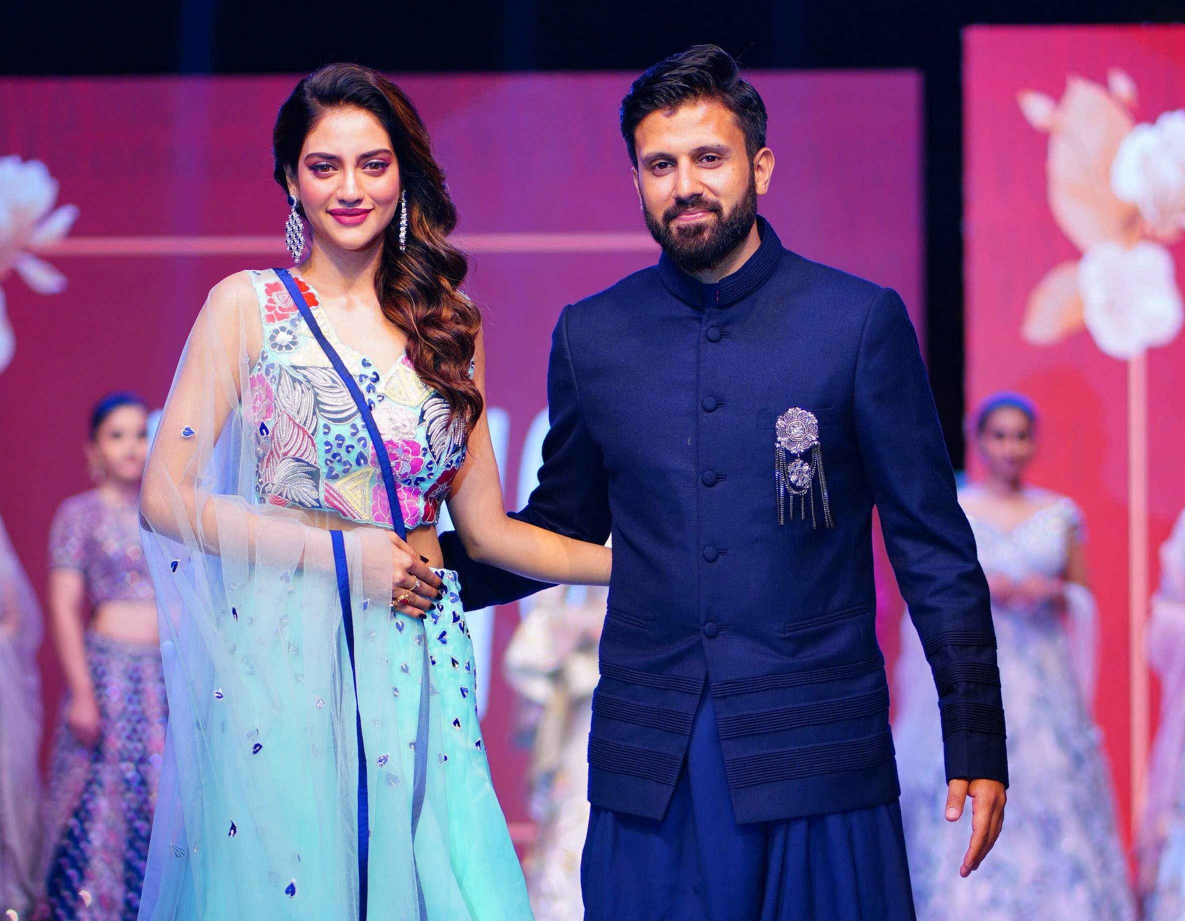 Actress,_Model_and_MP_Nustrat_Jahan_was_the_showstopper_at_the_launch_function_of_YOUVE_brand