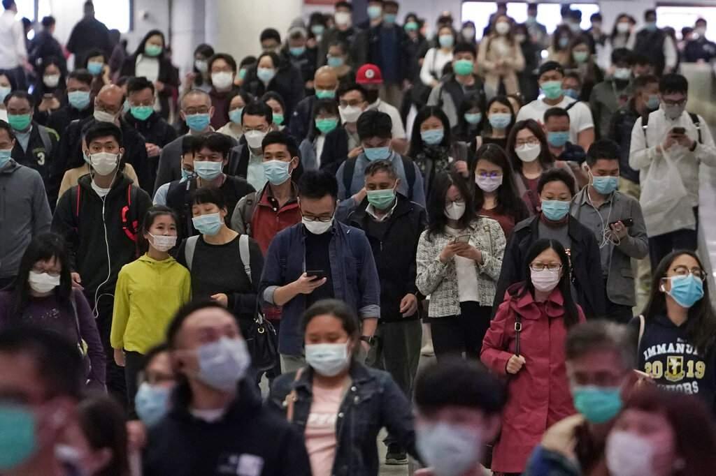 Rush hour in Hong Kong (AP Photo/Kin Cheung)