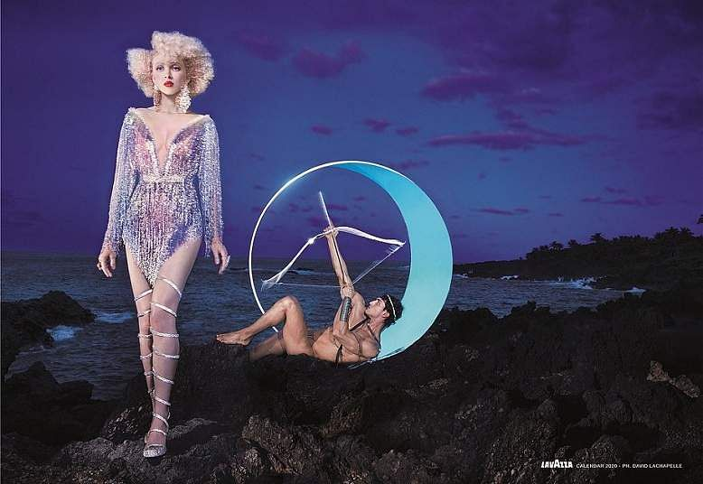 'Defend'. Images from David LaChapelle's Lavazza 2020 Calendar shoot themed, 'Earth CelebrAction'. All pictures by David LaChapelle, courtesy Lavazza.