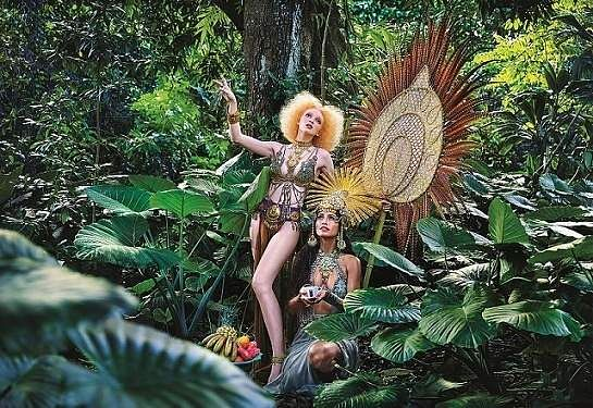 'Honour'. Images from David LaChapelle's Lavazza 2020 Calendar shoot themed, 'Earth CelebrAction'. All pictures by David LaChapelle, courtesy Lavazza.