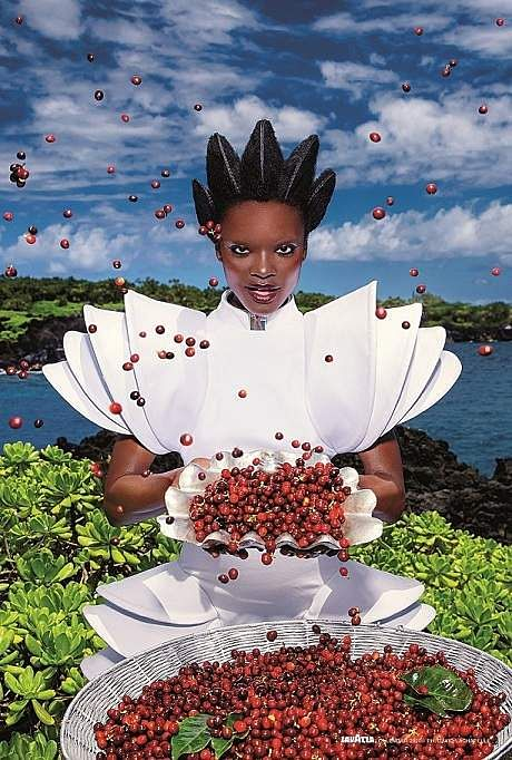 'Nourish'. Images from David LaChapelle's Lavazza 2020 Calendar shoot themed, 'Earth CelebrAction'. All pictures by David LaChapelle, courtesy Lavazza.