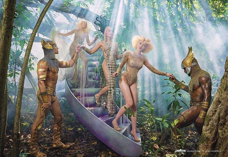 'Reconnect'. Images from David LaChapelle's Lavazza 2020 Calendar shoot themed, 'Earth CelebrAction'. All pictures by David LaChapelle, courtesy Lavazza.