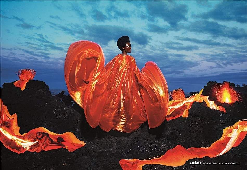'Respect'. Images from David LaChapelle's Lavazza 2020 Calendar shoot themed, 'Earth CelebrAction'. All pictures by David LaChapelle, courtesy Lavazza.