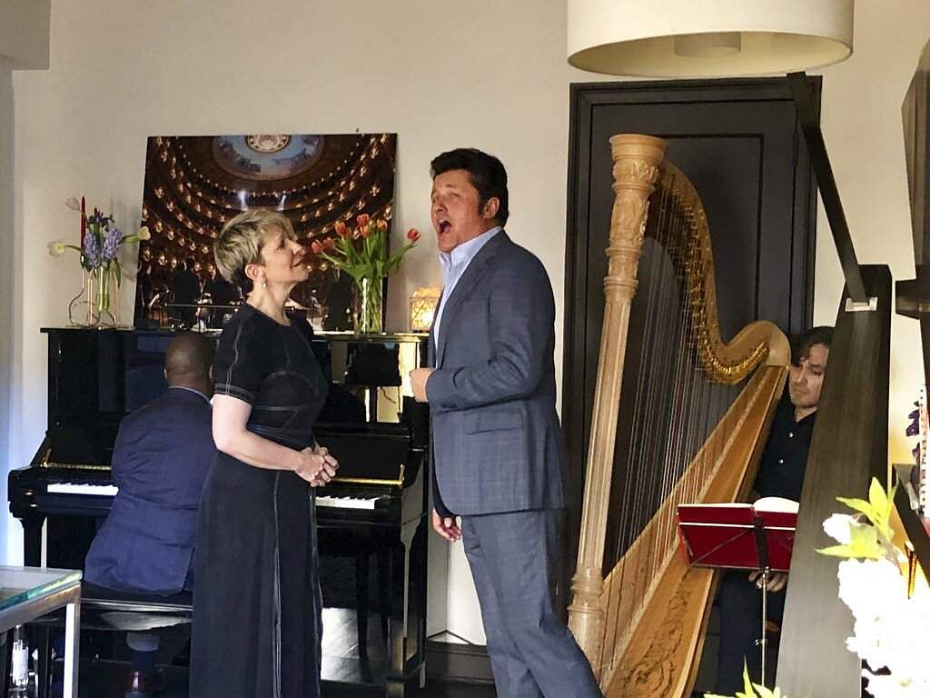 Soprano Joyce DiDonato and tenor Piotr Beczala (Jorge Parodi via AP)