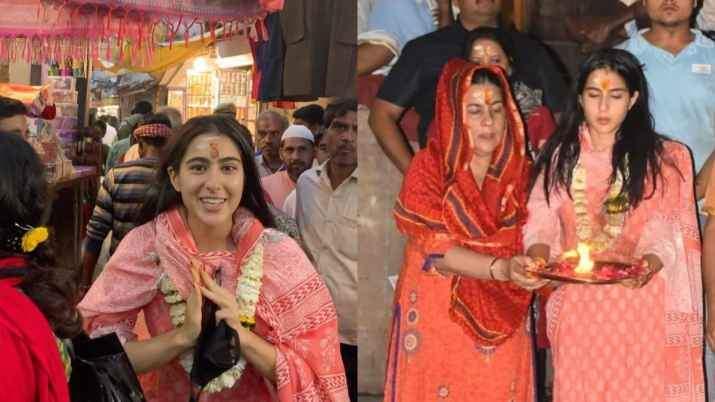 Sara Ali Khan's Varanasitemple visit sparks controversy aspandits say non-Hindus are prohibited