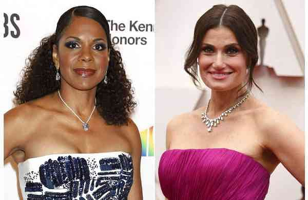 Audra McDonald and Idina Menzel (Photos by Richard Shotwell/Invision/AP and Greg Allen/Invision/AP)