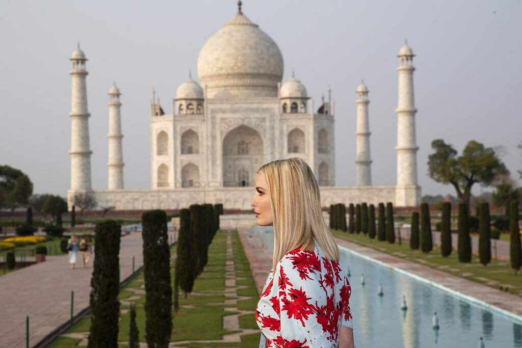 Ivanka Trump at the Taj Mahal (AP Photo/Alex Brandon)