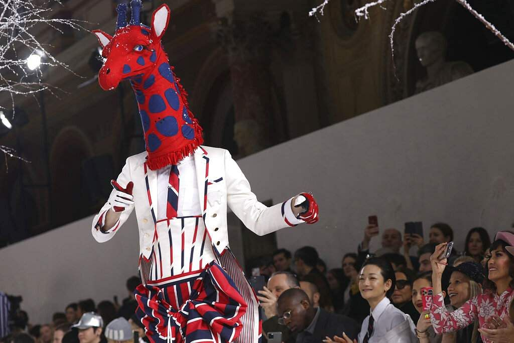 The Thom Browne fashion collection (Photo by Vianney Le Caer/Invision/AP)