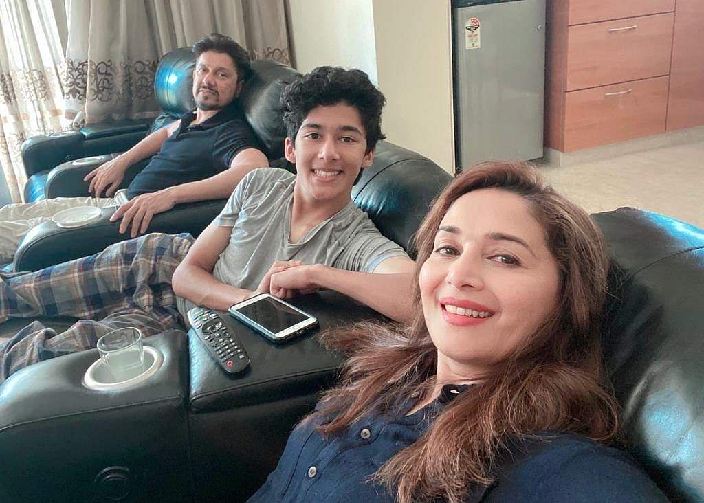 Madhuri Dixit Nene: 'Making the most of this quarantine by spending some quality time with my family... Everyone, please take the necessary precautions. Take care. Stay safe. Love, MD.'