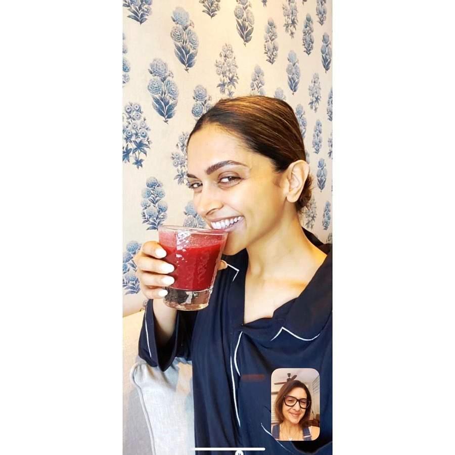 Deepika Padukone: 'Season 1:Episode 3 #drinkjuice #eatfruit Productivity in the time of COVID-19!'