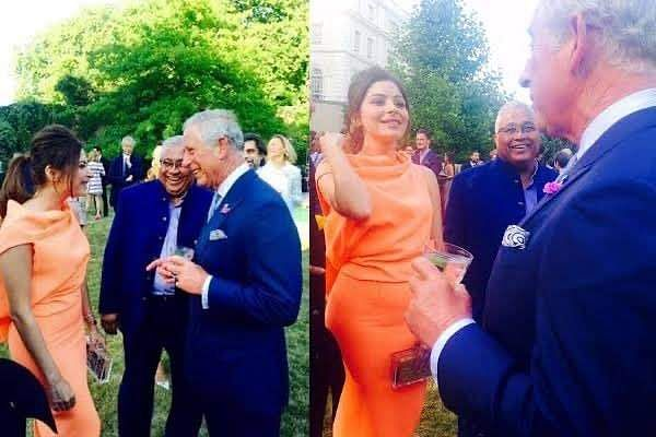 Kanika Kapoor and Prince Charles in a file photo (Source: IANS)