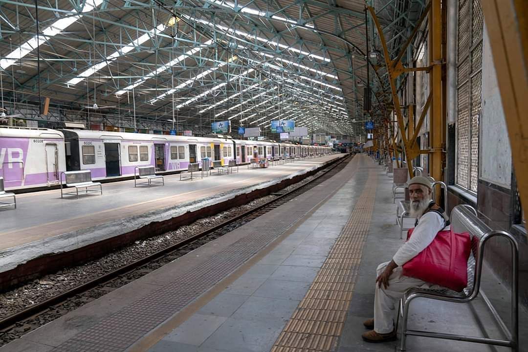 Mumbai: The Chhatrapati Shivaji Maharaj Terminus bears a deserted look during the nationwide complete lockdown to contain the spread of the coronavirus. (Photo: IANS)