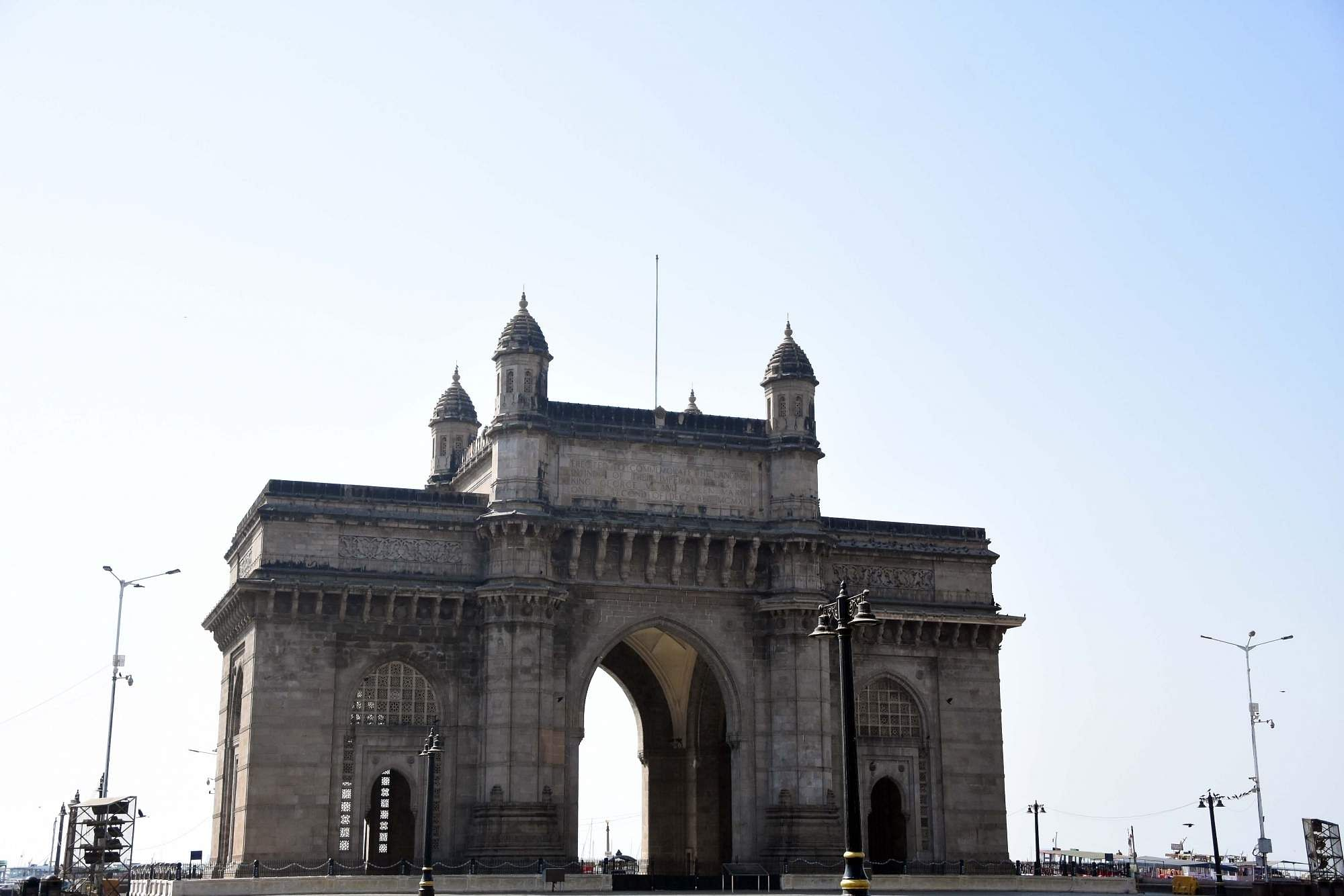 Mumbai: The Gateway of India bears a deserted look during the Janata Curfew announced by Prime Minister Narendra Modi as a measure to contain the spread of the coronavirus pandemic. (Photo: IANS)