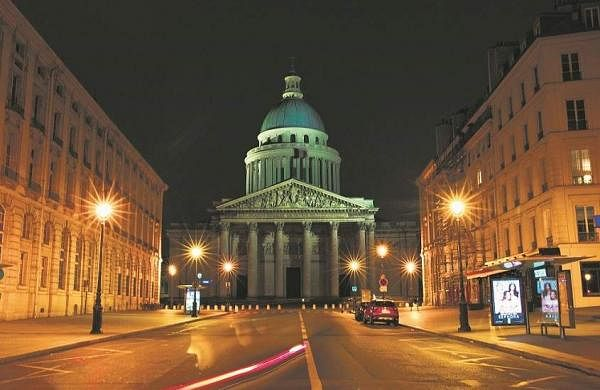 Paris, France: An empty street near the Pantheon Square. (AP Photo/Thibault Camus)