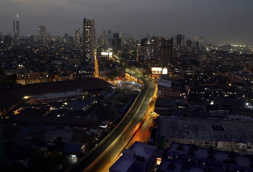 Mumbai, India: A view of a deserted road in Mumbai, as India's 1.3 billion people were asked to stay home for all but essential trips to places like markets or pharmacies. (AP Photo/Rajanish Kakade)