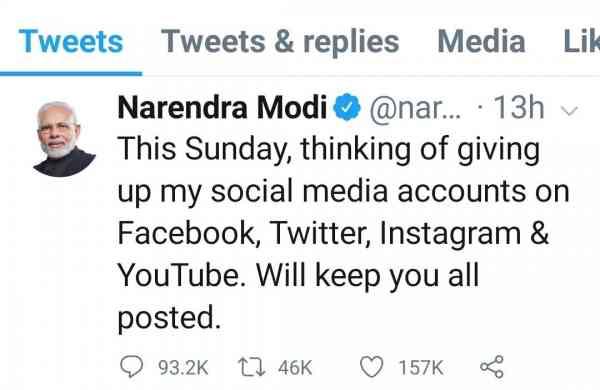 PM Modi on Twitter