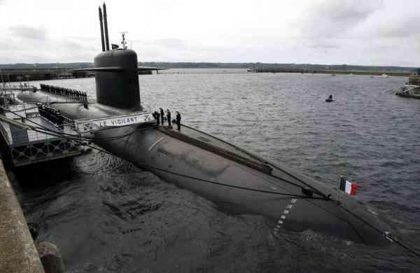 The Le Vigilant nuclear submarine (AP Photo/Francois Mori, Pool, File)