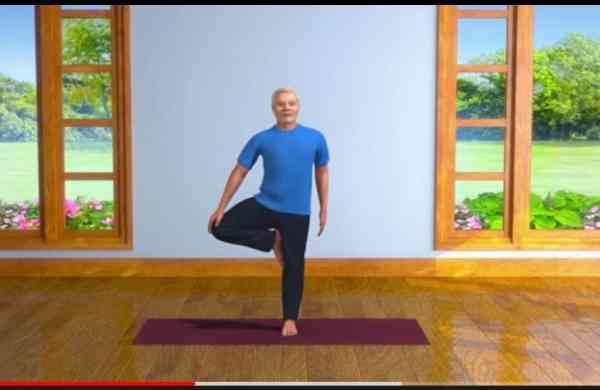 Yoga with Modi (Source: YouTube)