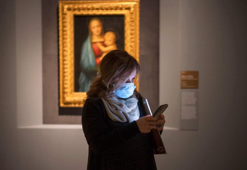 At Raffaello, the Raphael exhibition in Rome (AP Photo/Domenico Stinellis)