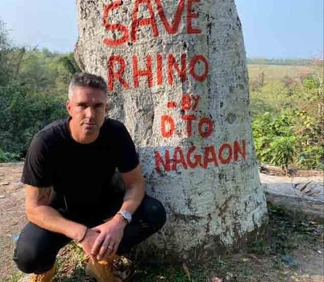 Kevin Pietersen for NatGeo's Save This Rhino (Photo: IANS)